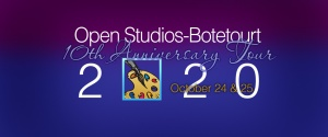 Open Studios-Botetourt's 10th Anniversary logo